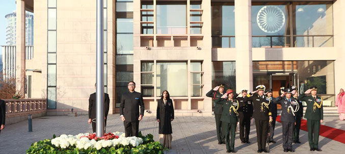 72nd Republic Day Celebrations at Embassy of India, Beijing